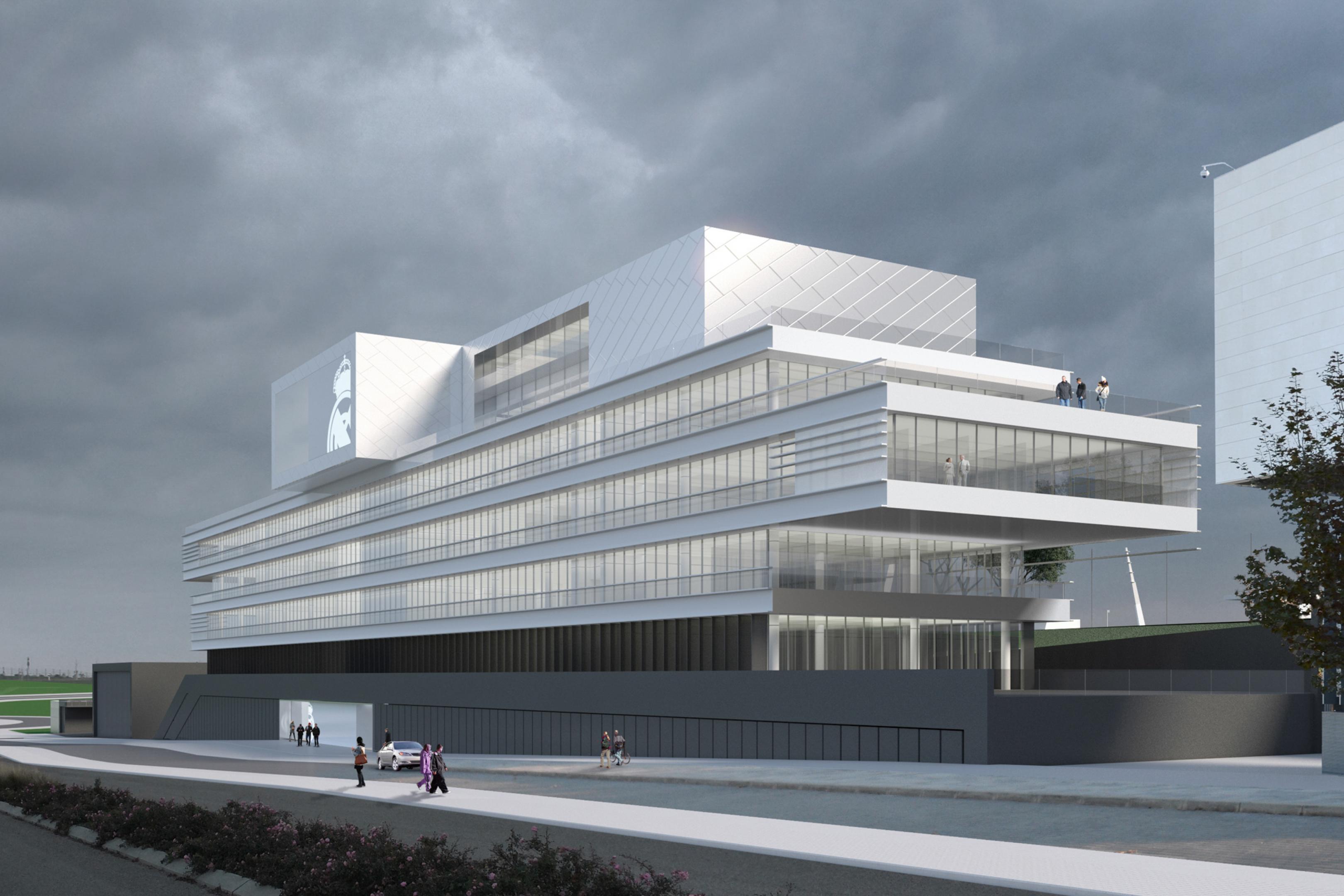 Propuesta oficinas centrales del real madrid pondio ingenieros - Oficinas centrales de sanitas en madrid ...